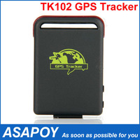 Full Accessories Mini Car Vehicle GPS/GSM/GPRS Tracker TK102B Mini Global Real Time 4 bands Tracking Device, Support TF Card