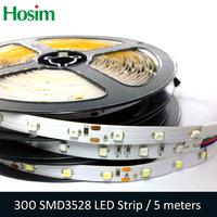 5M/roll 3528SMD Lighting Strip RGB White Warm White Red Green Blue Yellow  Flexible LED Strip 60leds/M