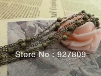 Free Delivery Diy Beads Vintage  Copper Bead Chain  1.5mm-3.5mm-22mm 5meters/lot Jewelry Connection