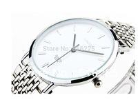 Steel watch male ultra-thin quartz watch waterproof vintage table fashion