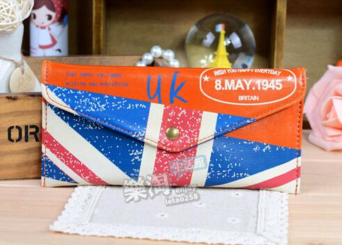 LZ National flag vintage flip cartoon pencil case stationery bags storage bag 19*7.5*5cm(China (Mainland))