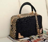 women's handbag leopard print paillette bag shoulder bag handbag messenger bag women's handbag small bags evening bag