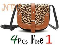 New Arrival New match Cute small leopard print vintage buckle all-match shoulder bag messenger bag