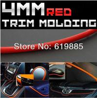 4MM x 10FT Red Car DIY Accessory Trim Door Windows Edge Moulding Strip Back In 3M For GMC Terrain Savana Sierra Saab Benz Subaru