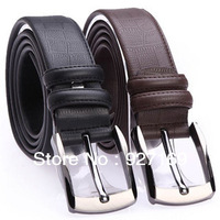 Free Shipping Fashion 2013 Newest Solid color  Cowskin leather men's belt Genuine leather belts corium belt
