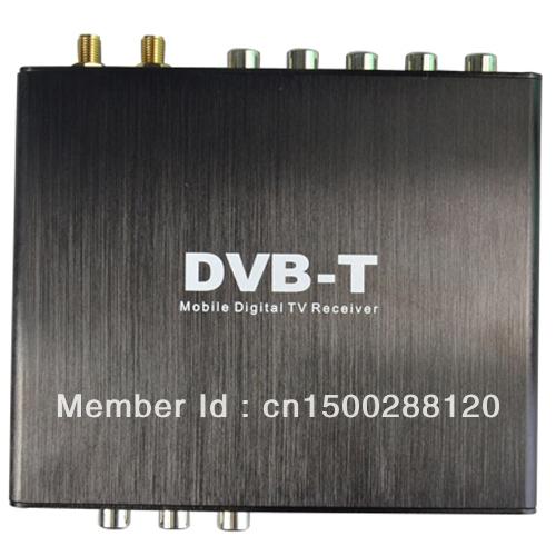 DVB-T Dual Tuner Digital TV Box MPEG2 MPEG4 , Digital TV receiver DVB-T, DVB-T Receiver, HD Double Tuner DVB-T Receiver box(China (Mainland))