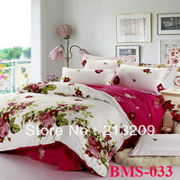 New 2014 More design Cotton Charming flower priting 3/4pcs Bedding Set/bedding/bedclothes/bedspread/ bed linen set,free shipping
