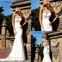 Chic Sweetheart Mermaid White Chiffon Floor Length Beaded Bow Back Beautiful Prom Dresses Evening Gowns 2013 New Arrival