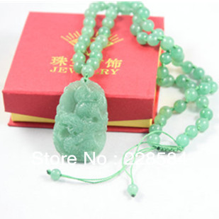 Minimum order $ 8 Free Shipping  Aventurine Jade Necklace Men Jade Long License Necklace Men Jade Pendant Dragon Pendant