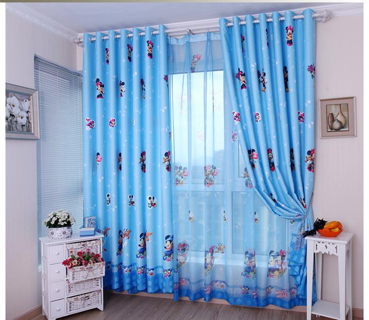 Achetez en gros rideaux mickey en ligne des grossistes for Rideau chambre garcon bleu