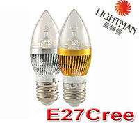Free Shipping E14/E27 6W 12W 15W LED high power Candle Light bulb lamp  85V-220V Gold /Silver /100pcs/lot