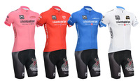 New Arrival! Hot 2014 Tour de italy Bicycle Cycling Jersey Short Sleeve and bicicleta bib Shorts maillot ciclismo clothing set