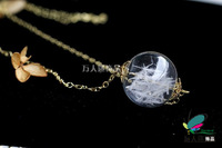 10pcs 25/30MM Glass Globe necklace Pendant  Handblown Glass Globe Necklace Glass Globe Bubble Vial necklaces
