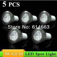 5PCS 3W E27 E14 GU10 GU5.3 MR16(12V) AC85~265V white/warm white LED Downlight LED Bulb Light Spot Light  Free Shipping