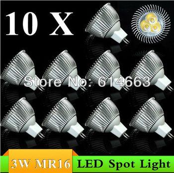 10PCS 3W E27 E14 GU10 GU5.3 MR16(12V) LED Downlight LED Bulb Light Spot Light Candle Light Retail and Wholesale  Free Shipping