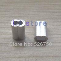 For 1.5mm Diameter Wire Rope Aluminum Crimping Sleeve Aluminum ferrules 200Pcs