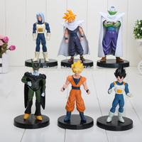 6 pcs/Lot 4.7 inch Dragon ball Goku figure chidren toy Christmas gift (6pcs/set)
