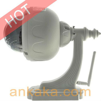 3X Optical Zoom Wireless Waterproof IP Security Camera with PTZ Control and Auto Iris Lens with Wifi and Night Vision