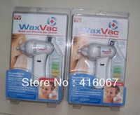 2pcs/lot China post Wax Vac Ear Vacuum Cleaner Electronic Ear Cleaner CLAMSHELL PACKING