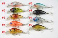 New Arrival mix 9 colors 4.5CM 4G 10# hooks ,CRANKBAIT fishing lures,fishing hard bait,Big Crank lures, 9pcs (CB005)