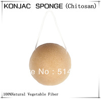 100% Natural Chitosan Konjac Sponge For Facial Wash Cleaning 9g 6.5*3cm / CS001611