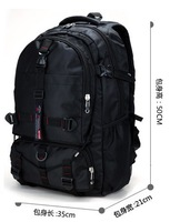 Male backpack large capacity middle school students school bag double-shoulder laptop bag travel bag