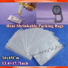 500Pcs 13.4x17.7inch(34x45cm) Soft Transparent Blow Molding PVC Heat Shrinkable Bags Film Wrap Packaging Wrap Materials(China (Mainland))