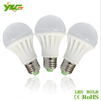 Free shipping 3pcs/lot wholesale 5W ceramics E27 LED SMD Bulb high lumens 450lm