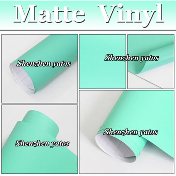 Colorful Matte/Matt Mint Green Color Vinyl /Car Body Sticker /Air Free Bubbles PVC Film/ Foile(China (Mainland))