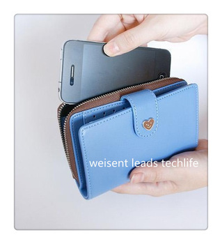 Free shipping 10 pcs/lot smart pouch/leather wallet case/mobile phone pouch/mobile phone bag/card case/pu for iphone 4 4s