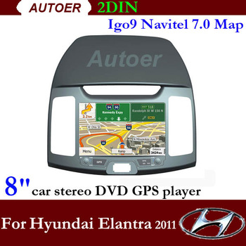 Free shipping 2 Din Car DVD GPS for Hyundai Elantra 2011 DVD 8 inch touch screen with GPS Bluetooth RDS Radio