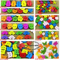 400pcs 10patterns each 40pcs cartoon button wood cloth buttons scrapbooking charms crafts WCB-101