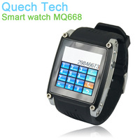 "Cell Watch Mobile Phone MQ668 1.54"" TFT Touch Screen FM Radio USB Connection 8GB TF Card Bluetooth GSM SIM HK Post Free Shipping"