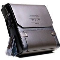 Fashion Zefer Men's Genuine Leather Bag Shoulder Bag Leisure Bag Man Brand Bag Free Shipping
