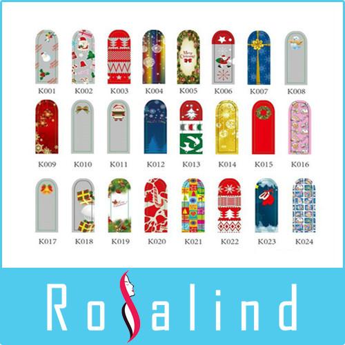 Rosalind New 2014 CHRISTMAS -National flag- XMAS - FESTIVE METALLIC NAIL FOIL WRAPS - NAIL & TOE ART 50 packs/lot(China (Mainland))