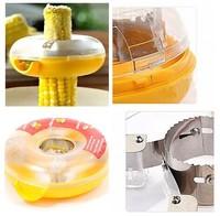 Fresh Corn Stripper Sweet Corn Threshing Device for Kitchen Round Novelty #1039