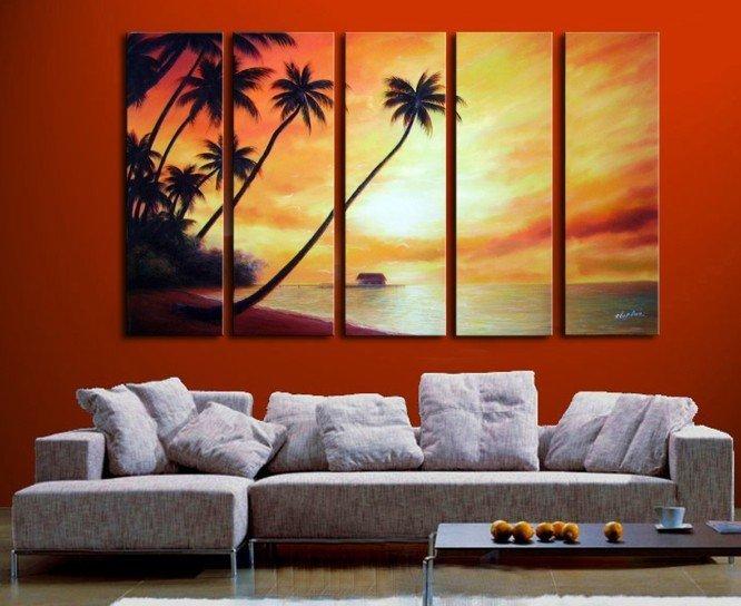 Pinturas oleo modernas para sala imagui - Como decorar una pared con cuadros ...