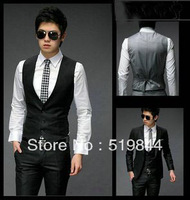 Grooms suit vest Men fitted vest Business casual suit vest male formal vest slim sleeveless waistcoat male vest suit
