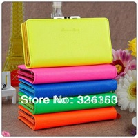 2013 fluorescence color purse,fashion wallet,nice lady love purse 5055