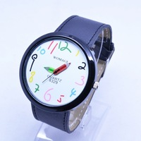 ToMoNo Elegant Women's Analog Watch ,10colorful Cartoon number  Pencil Hands Big Face watch ,FREE SHIPPING