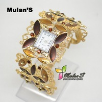 ToMoNo Golden Metal watch charming Jewelry diamond women watch Xmas gift watch