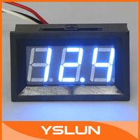 5 PCS/LOT Digital Volt Gauge DC 0-99.9V Blue LED Digital Voltmeter for Car Motorcycle and DIY ect #090124