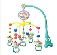 lowest  price best quality rattle  baby toy carousel shape musical recreation ground baby mobile bed bell with 12 music