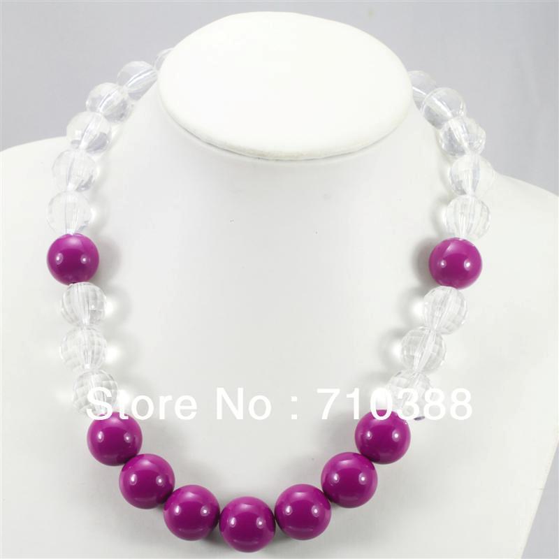 purple lovely white acrylic chunky bubblegum