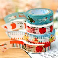 Freeshipping! New High quality washi masking tape/ cartoon adhesive tape / 20 design DIY sticker collection / wholesale