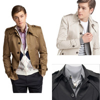 Free shipping! autumn and winter models british style male clothes Men Slim casual windbreaker jacket ML-XL-XXL-XXXL