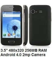 "mini i9500 Smartphone 1.0GHz 256M RAM Capacitive Screen SC6820 3.5"" 2.0MP Camera Feiteng Mini 9500 android phone Android 4.0"
