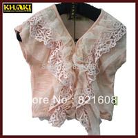 2014 summer girl blouse fashion girl cape jacket high quality pink kid girl cape jacket summer tops