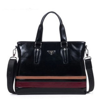 Free shipping 2013 man bag genuine leather bag commercial bags one shoulder Briefcases handbag 8736-1
