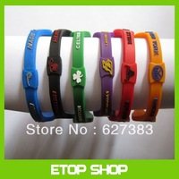 Free shipping 50pcs/lot Basketball Team Player Silicone Sports Energy Balance Bangle Bracelets